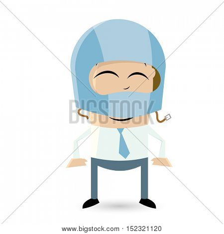 clipart of a funny man with crash helmet