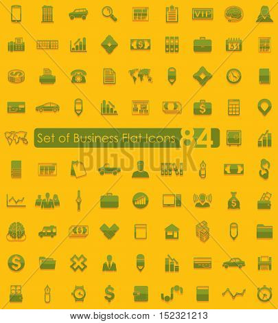 Set of business flat icons for Web and Mobile Applications