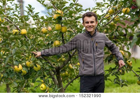 Teenage Kid At Apple Harvest
