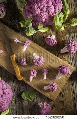 Raw Organic Purple Cauliflower