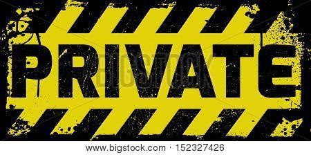 Private Sign