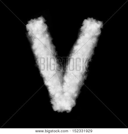 letter V made of the clouds