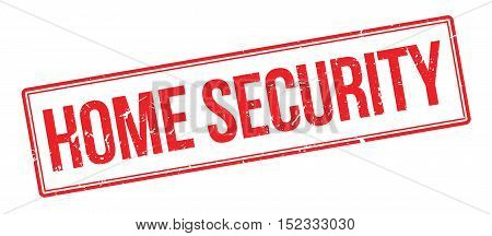 Home Security Rubber Stamp