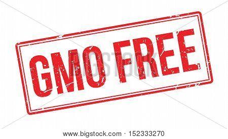 Gmo Free Rubber Stamp