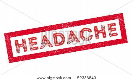 Headache Rubber Stamp