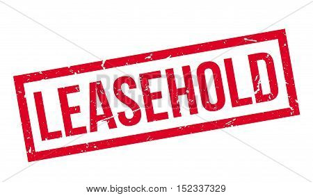 Leasehold Rubber Stamp