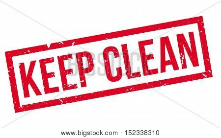 Keep Clean Rubber Stamp