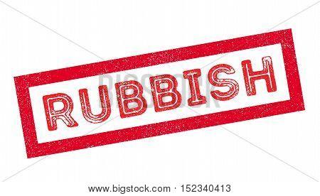 Rubbish Rubber Stamp