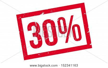 30 Percent Rubber Stamp