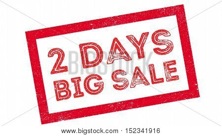 2 Days Big Sale Rubber Stamp