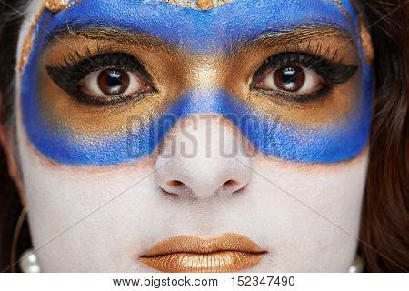 Macro Of Woman Face