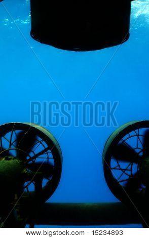 propellers of submarine