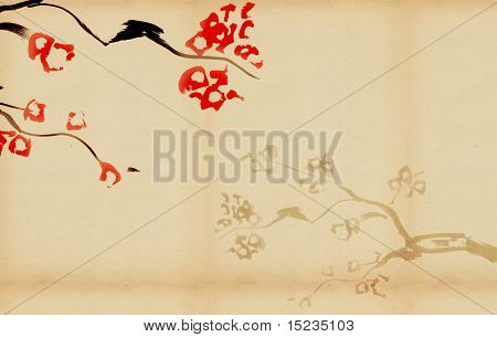 Background With Plum Blossom