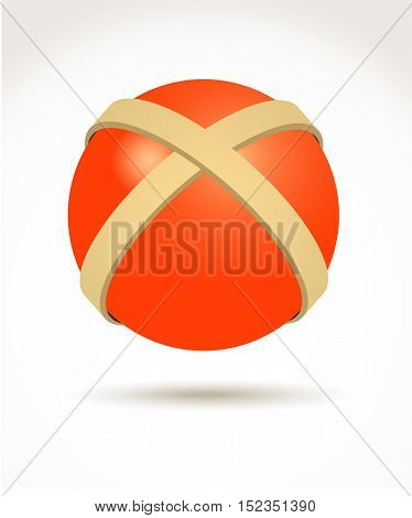 Vector illustration of cross ball design element