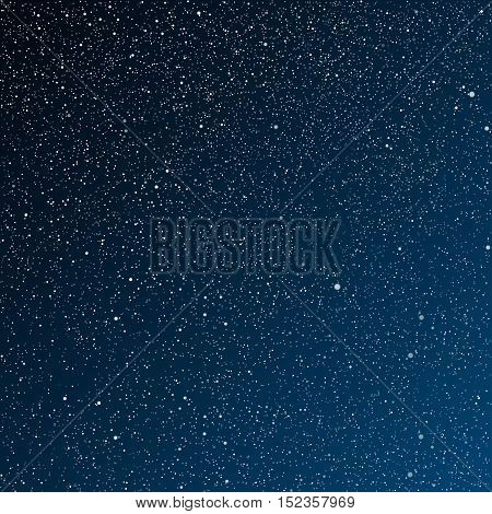 Vector background. Starry night sky. Stars, sky, night. The night the starry dark blue sky in stars.