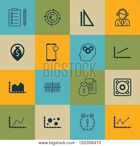 Set Of 16 Universal Editable Icons For Project Management, Airport And Human Resources Topics. Inclu
