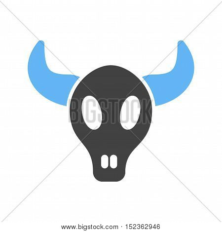 Bull, cow, horns icon vector image. Can also be used for wild west. Suitable for web apps, mobile apps and print media.