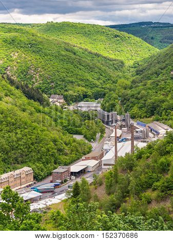 Braubach Germany - May 23 2016: BSB Recycling GmbH (BSB) Braubach Germany is one of the traditional secondary lead smelters in Germany and is also a European market leader in the production of high-grade polypropylene compounds derived from secondary mate