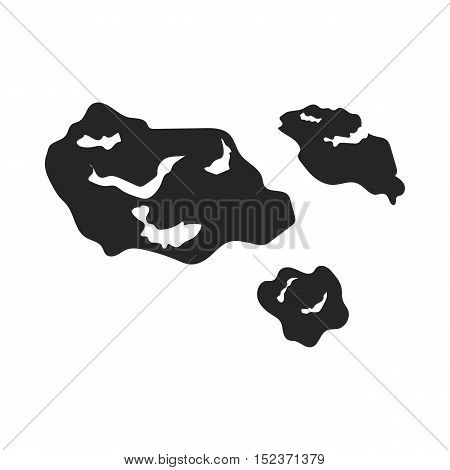 Asteroid icon in  black style isolated on white background. Space symbol vector illustration.