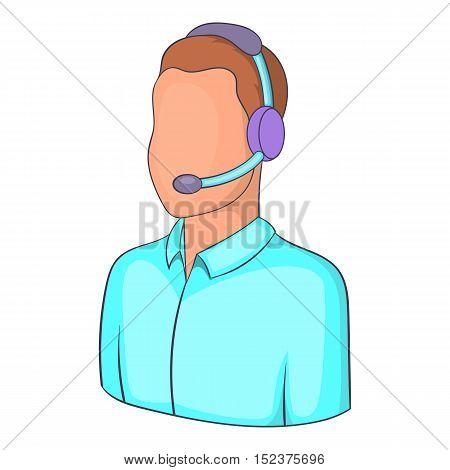 Man operator icon. Isometric illustration of man operator vector icon for web