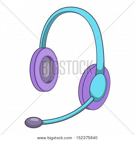 Headset icon. Isometric illustration of headset vector icon for web
