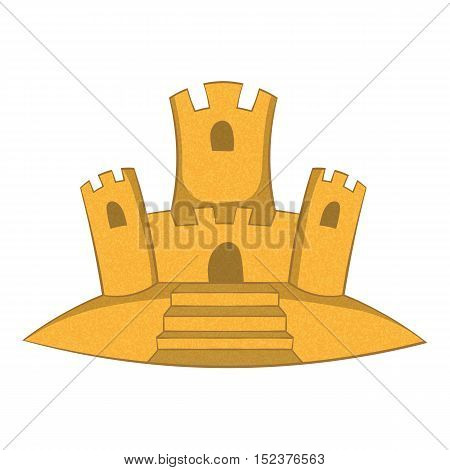 Sand castle icon. Cartoon illustration of sand castle vector icon for web