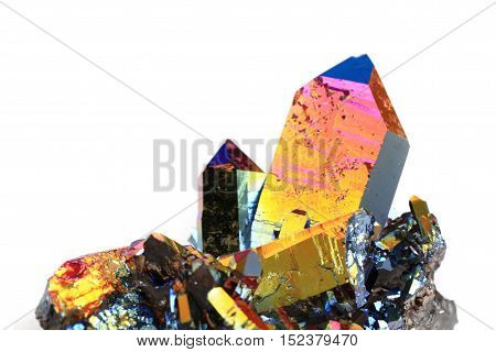 Crystal With Metal Rainbow Surface