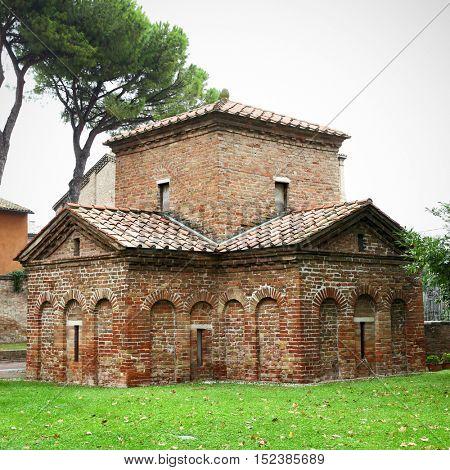 The Mausoleum of Galla Placidia in Ravenna, Italy (V century)