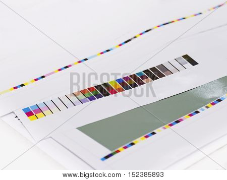 Color chart on Digital Printing Offset Industry Layout work process