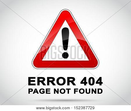 Illustration of website error background design concept