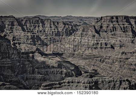 View of Grand Canyon Arizona west rim.