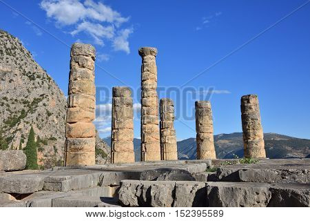 Apollo Temple In Delphi, Greece