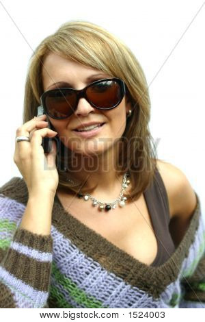 A Beautiful Barty Woman With Phone