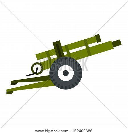 Artillery gun icon. Flat illustration of artillery gun vector icon for web design