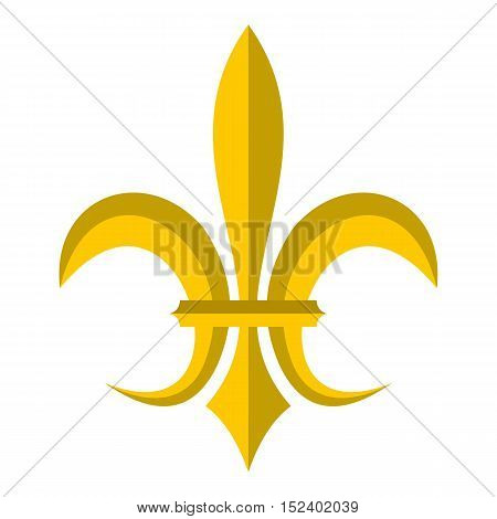 Gold royal lily icon. Flat illustration of royal lily vector icon for web design