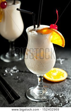 Pina Colada - Cocktail with Cream, Pineapple Juice and Rum