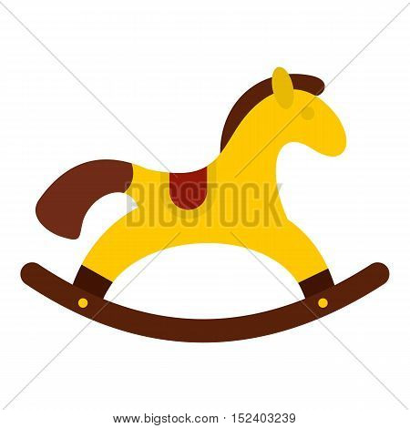 Horse toy icon. Flat illustration of horse toy vector icon for web design