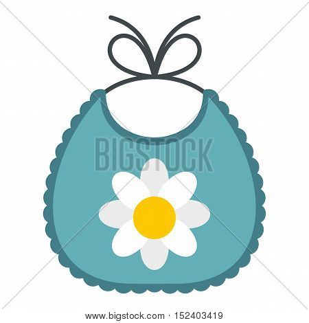 Baby bib icon. Flat illustration of baby bib vector icon for web design