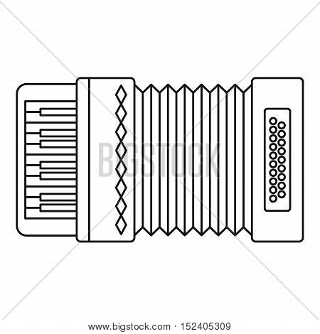 Classical bayan icon. Outline illustration of accordion vector icon for web