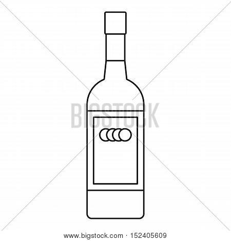 Russian vodka bottle icon. Outline illustration of russian vodka bottle vector icon for web