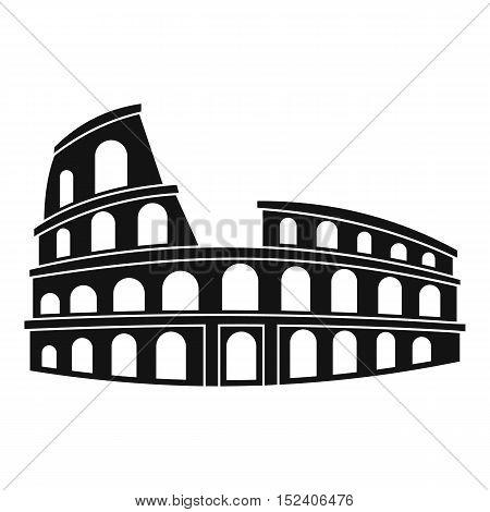 Roman Colosseum icon. Simple illustration of Colosseum vector icon for web