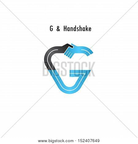 G- letter icon abstract logo design vector template.Business offerpartnership icon.Corporate business and industrial logotype symbol.Vector illustration