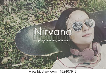 Nirvana Placid Peaceful Tranquility Serene Rest Concept