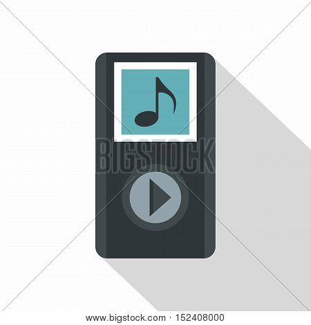 Audio player icon. Flat illustration of audio player vector icon for web isolated on white background