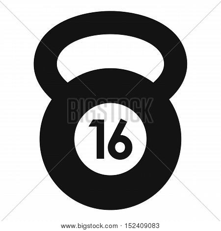 Kettlebell icon. Simple illustration of kettlebell vector icon for web