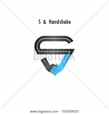 S- letter icon abstract logo design vector template.Business offerpartnership icon.Corporate business and industrial logotype symbol.Vector illustration