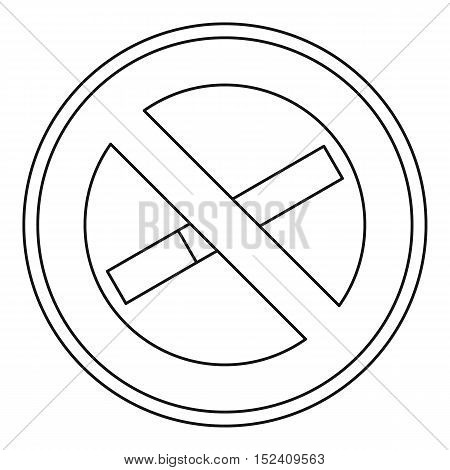 No smoking icon. Outline illustration of no smoking sign vector icon for web