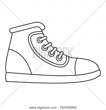 Sneaker icon. Outline illustration of sneaker vector icon for web