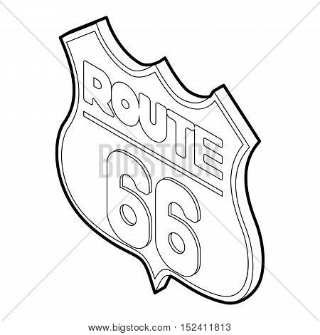 Sign route icon. Outline illustration of sign route vector icon for web