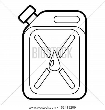 Jar of gasoline icon. Outline illustration of jar of gasoline vector icon for web design
